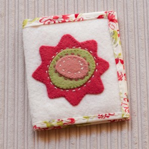 Felt Applique Needle Book - Marg Low Designs - Outside