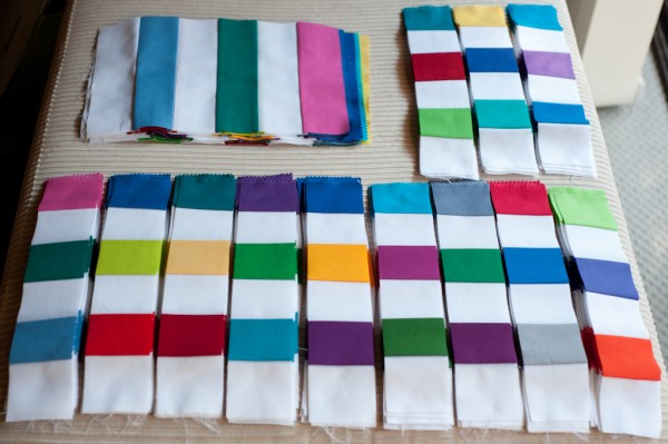 Strip sets for rainbow snapshots quilt