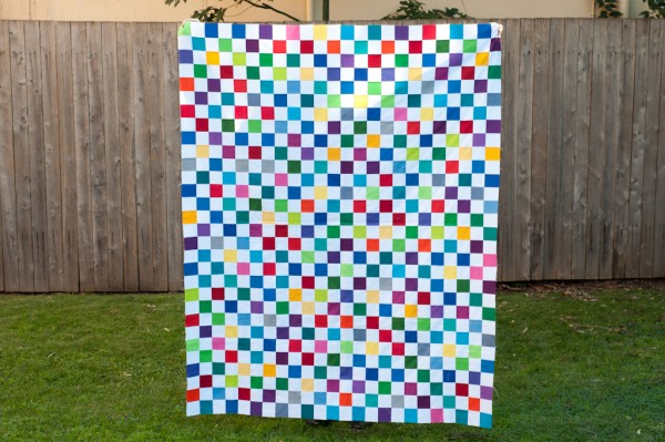 The finished quilt top.