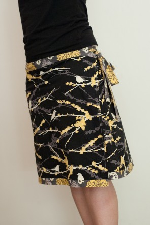 The Versatile Wrap skirt in Aviary 2 fabrics