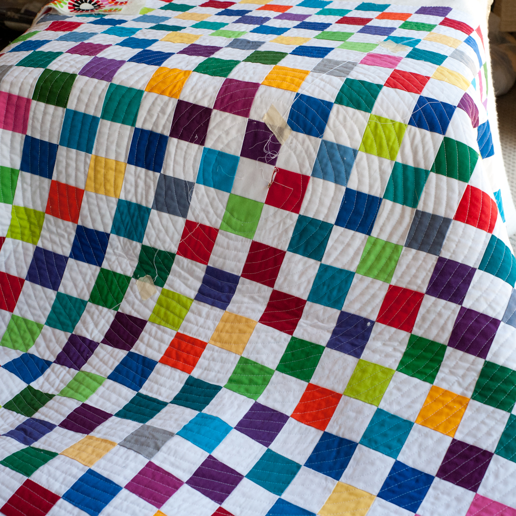 My First Quilt – Part 5: Quilting - Round and round and round she ... : easy first quilt - Adamdwight.com