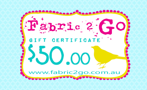Fabric 2 Go Gift Certificate $50