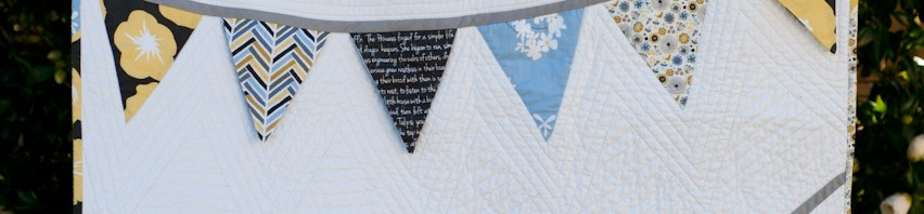 Blogger's Quilt Festival: Madrona Road Festival Flags