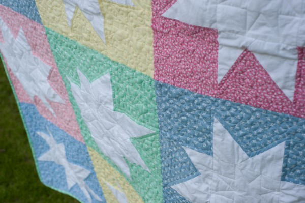 Super Stars - WMQG Charity Quilt - Quilting