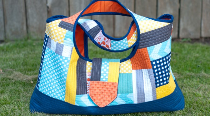 Riley Blake MQG Challenge – Quilt-As-You-Go Bag