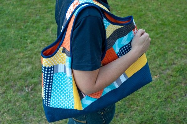 Riley Blake Challenge - Quilt As You Go Bag