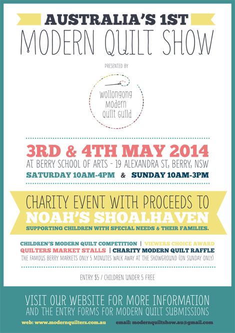 Australia's 1st Modern Quilt Show Flyer