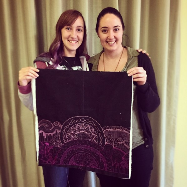 Karlee Port & I with my sample quilt