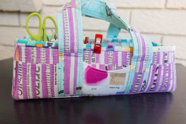 Social Tote using Paint Fabrics by Carrie Bloomston of SUCH Designs